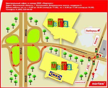 Схема проезда г.Котельники