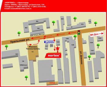 Схема проезда в г.Краснодар. Улица уральская, 134